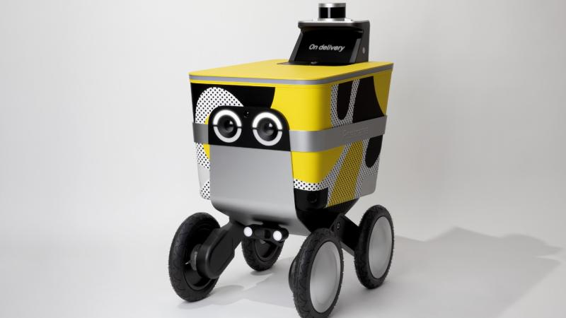 外卖机器人2019年将走上街头 大眼睛酷似小黄人
