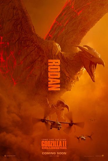《哥斯拉2:怪兽之王》怪兽海报震撼亮相