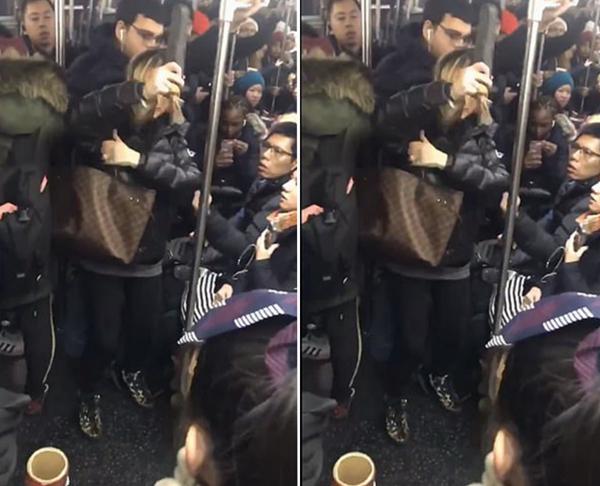 美地铁上一白人女子踢打辱骂亚裔女子后被捕