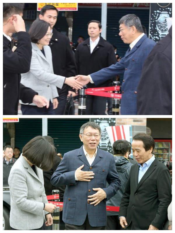 柯文哲和蔡英文握手后马上擦8下不是因为手汗,台媒体