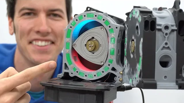 3D打印模型告诉你:马自达RX-7转子引擎这样运作