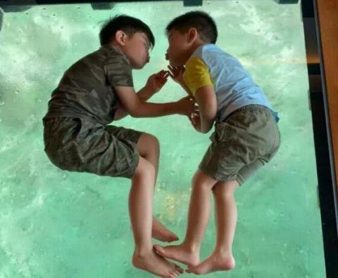 胡可晒出照片,小鱼儿和安吉暴风成长,兄弟关系亲密样貌如复制