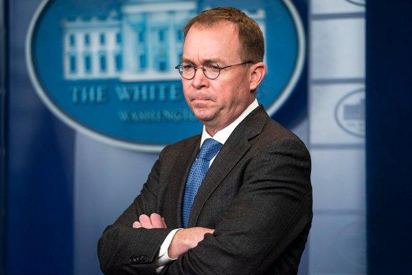 特朗普提名白宫行政管理与预算局局长为代理幕僚长