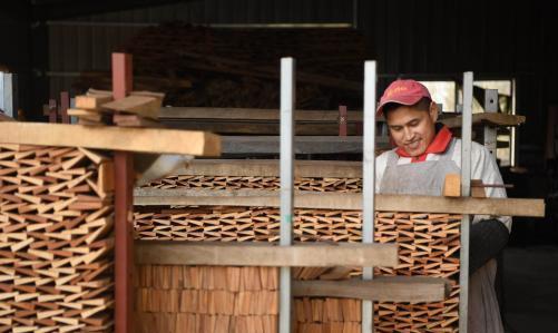 拜望安徽泾县传统木梳制造 小木梳成绩大财产