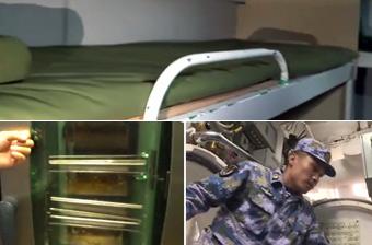 国产039A潜艇内部曝光:宿舍像硬卧 厨房配烤箱