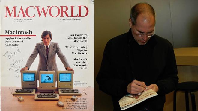 乔布斯亲笔签名《MacWorld》杂志拍出4.7万美元