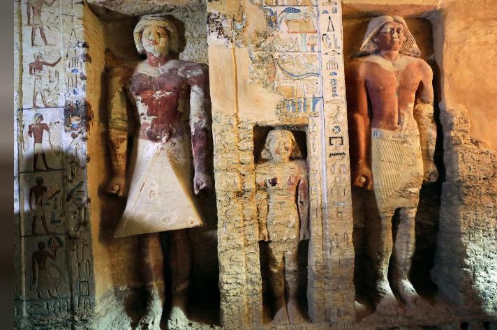 埃及发现距今4400年墓葬:保存完好,颜色无损