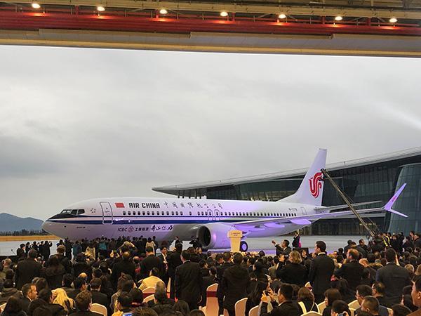 波音舟山工厂交付首架飞机:国航接收737 MAX8