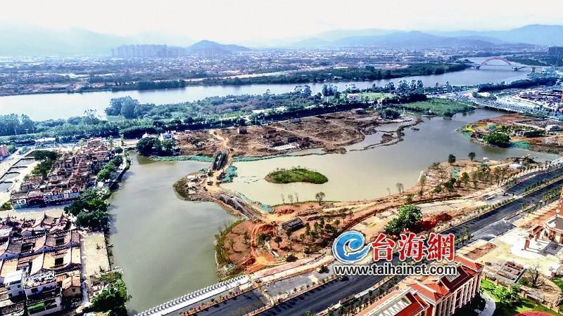 漳州湘桥湖已成型开始景观绿化施工 预计春节前可基本完工