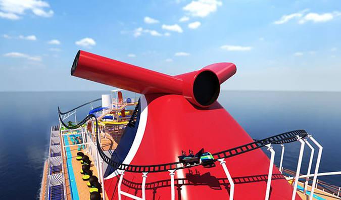 世界首款海上过山车亮相 最高时速达64公里/小时