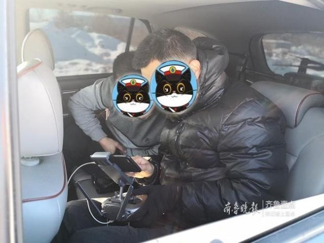 """小偷扒窃,不料全程被""""航拍""""!威海民警用无人机擒贼"""