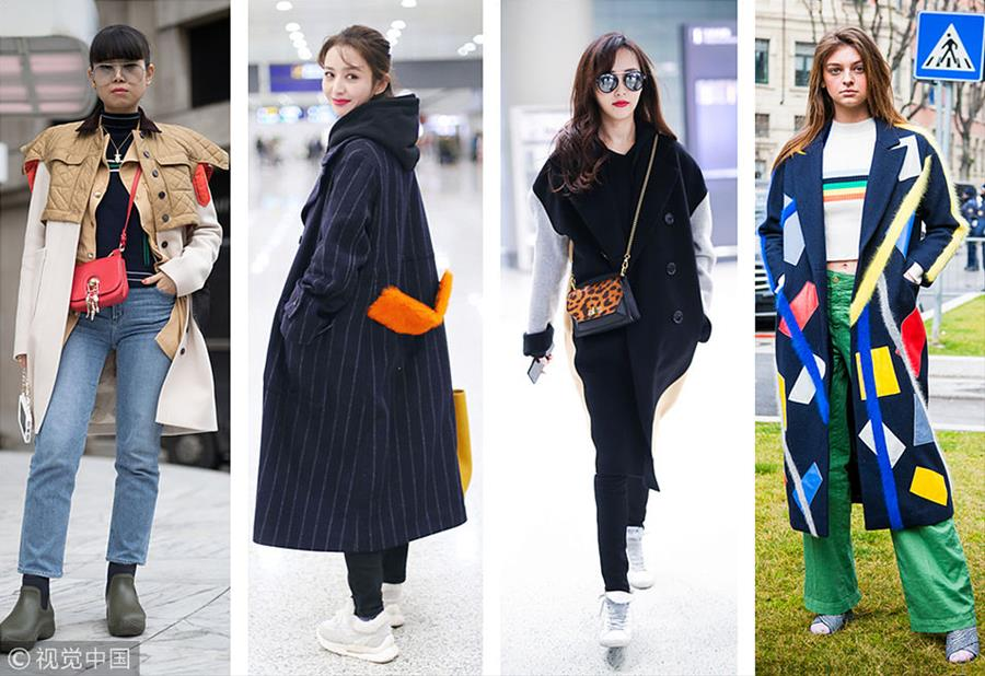 时尚不是单选题 选择困难症患者千万要解锁拼接大衣