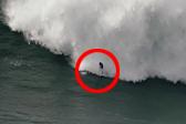 葡萄牙一冲浪者被巨浪频繁拍打惊险获救