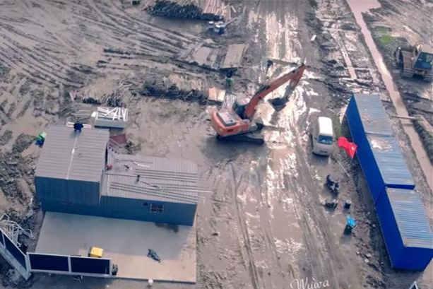 航拍曝光:特斯拉上海工厂破土动工