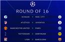 欧冠16强抽签:尤文VS马竞 曼联战巴黎 利物浦对拜仁