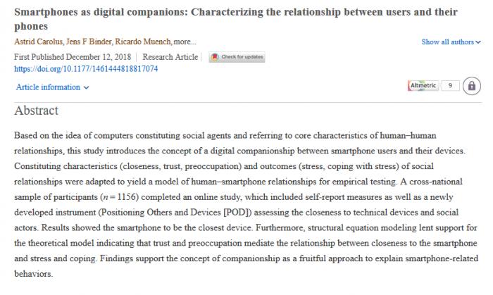 """比同事更重要?调查称智能手机成""""数码伙伴"""""""