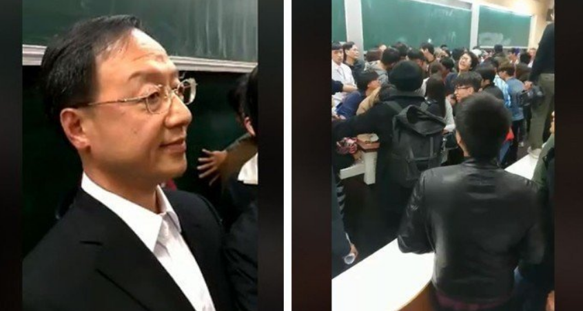 """江宜桦演讲遭""""太阳花""""学生闹场,马英九:已过4年还追杀,不可取"""