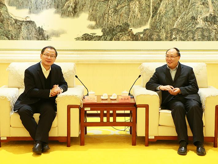 全国工商联副主席王永庆会见台湾优灵客协会代表