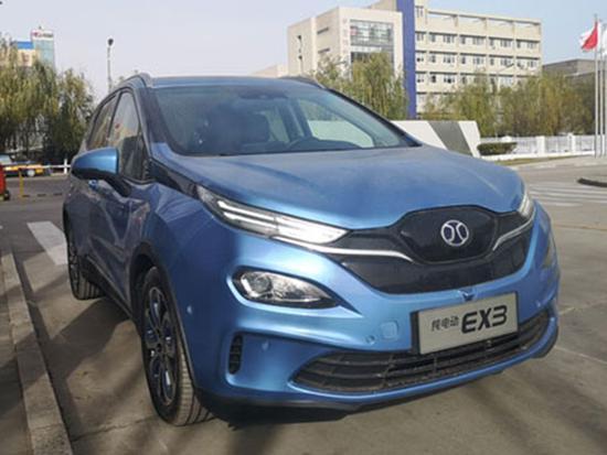 纯电动跨界SUV 北汽新能源EX3申报图曝光