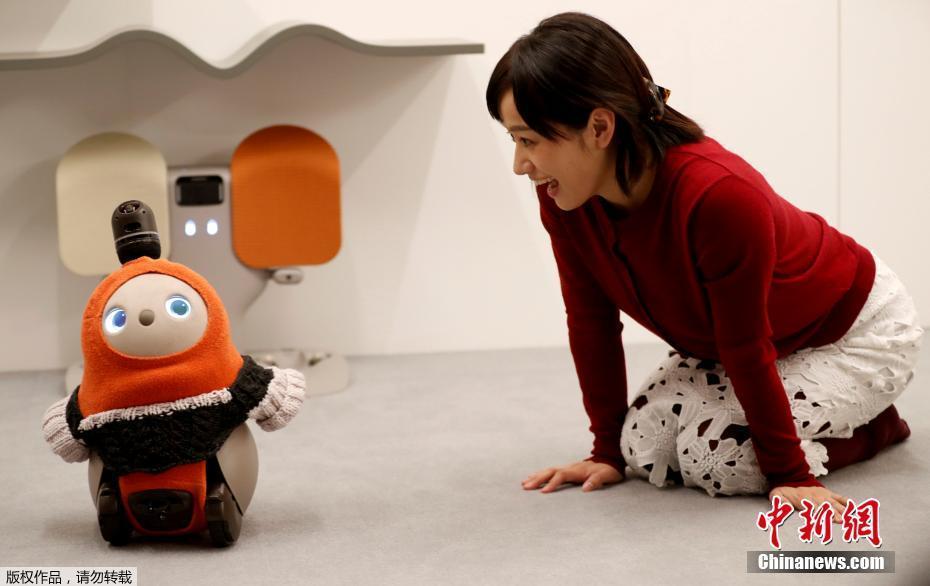 呆萌机器人 能读懂人类情绪具有情感治愈功能