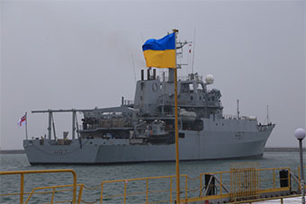 英国水声测量船进黑海抵乌克兰港口 称友好访问