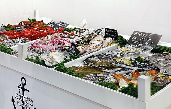 眼馋skr!英艺术家用羊毛织出精美圣诞大餐