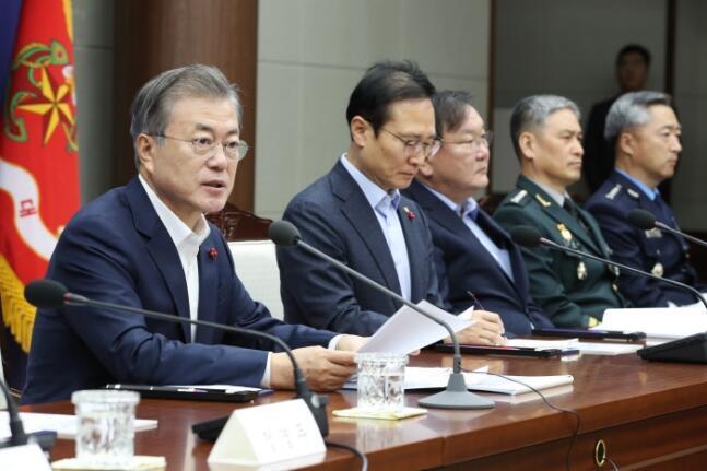 韩防长汇报2019年业务报告,提及朝韩军事共同委员会及韩美联演等事宜
