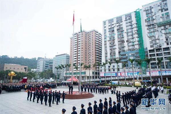 澳门举行升旗仪式庆祝回归祖国19周年