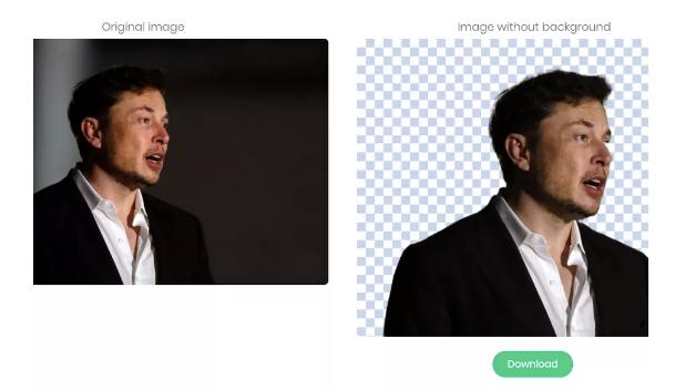 这个免费的在线工具使用AI快速删除图像背景