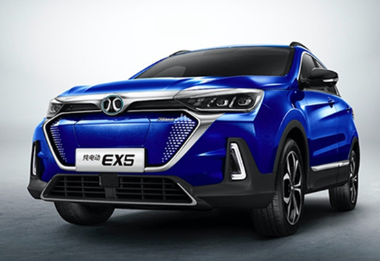 续航520公里 北汽新能源EX5将于明年1月上市