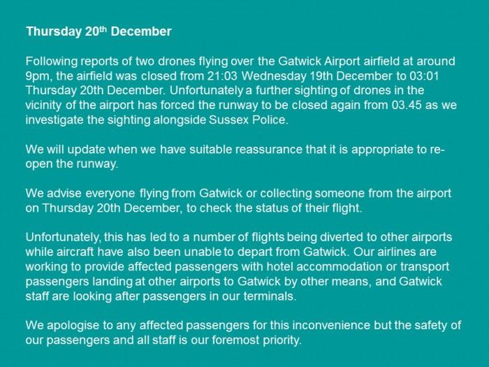 """无人机致机场关闭事件或会让英警察拥有""""新权力"""""""