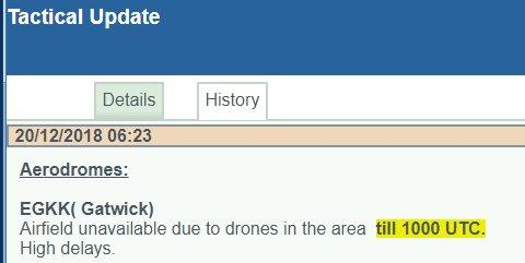 非法放飞的无人机让英国第二大机场被迫关闭