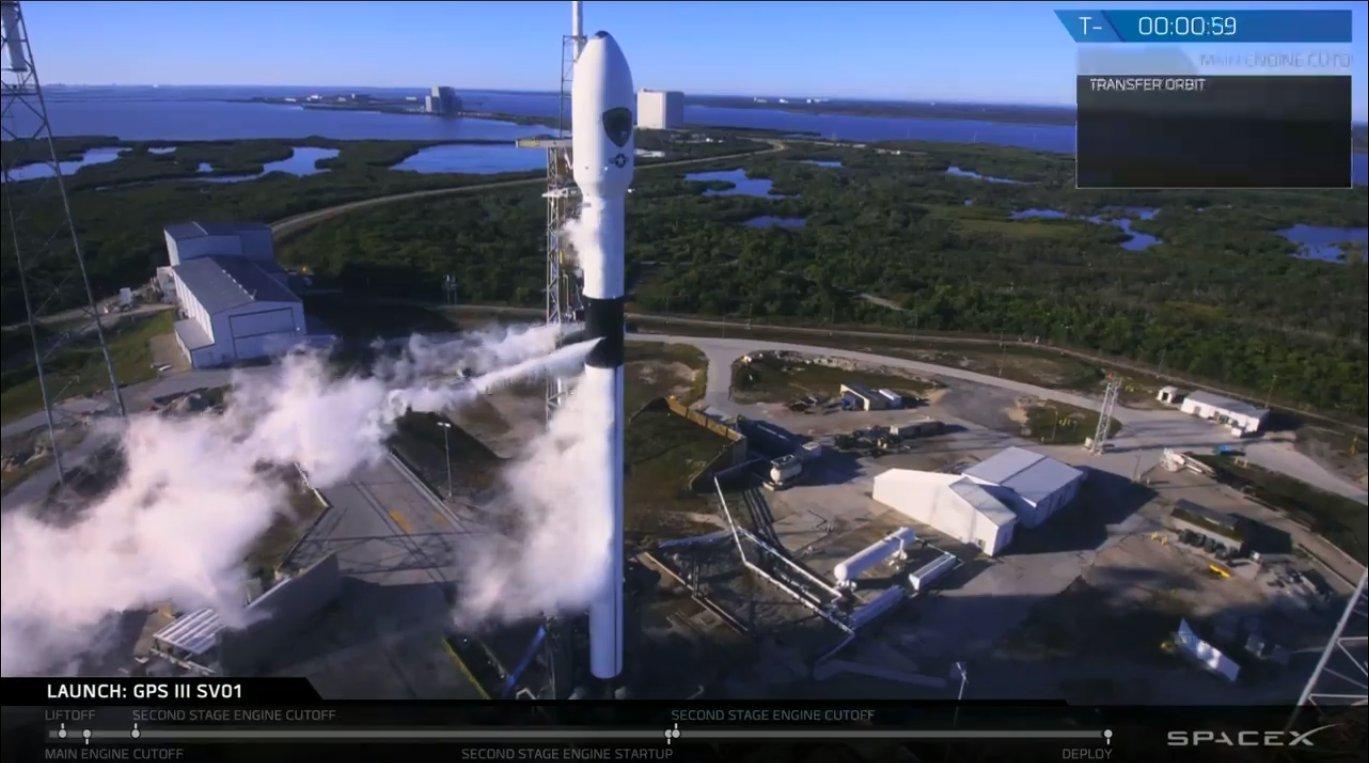 Space X为美军方发射GPS卫星 首次执行军方任务