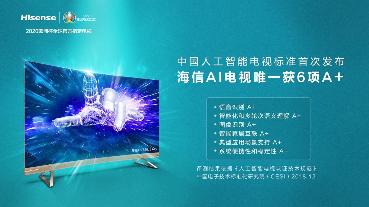人工智能电视标准首次发布 海信AI电视获六项A+