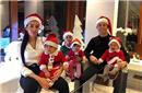 C罗一家6口戴圣诞帽小儿子笑成表情包!