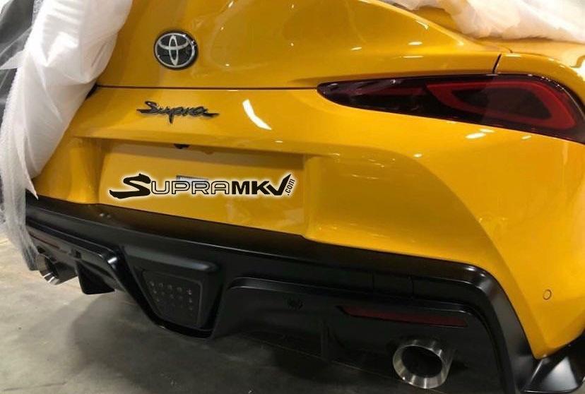 丰田全新Supra再曝实车车尾图 彰显运动风范