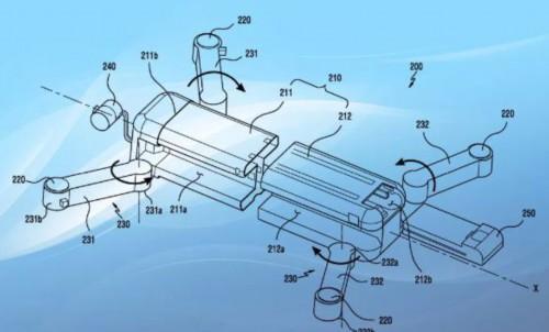 三星发布无人机专利 折叠臂和传感器电路图成亮点