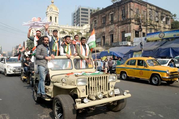 印度青年代表大会成员全国性集会游行 抗议政府领导问题