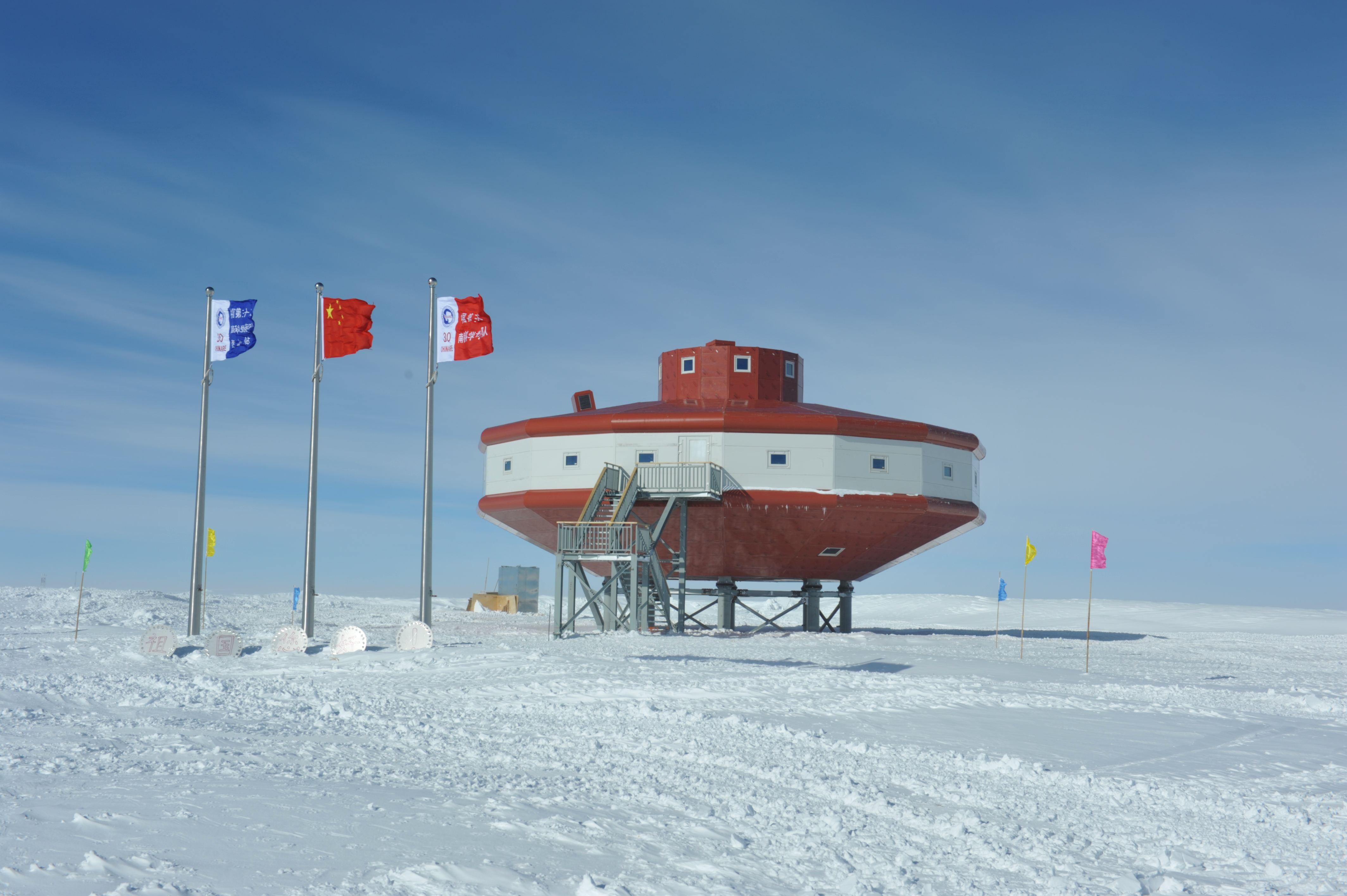 中国南极科考队抵达泰山站 泰山站二期建设开工