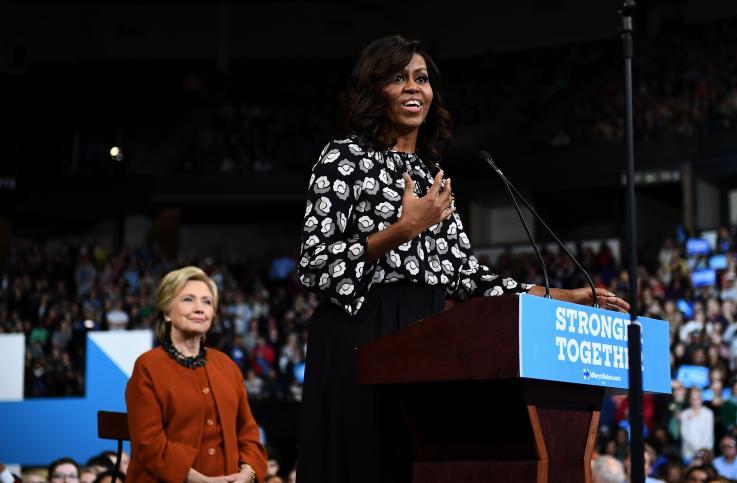 米歇尔·奥巴马当选美国最受尊敬女性 打破希拉里17年垄断
