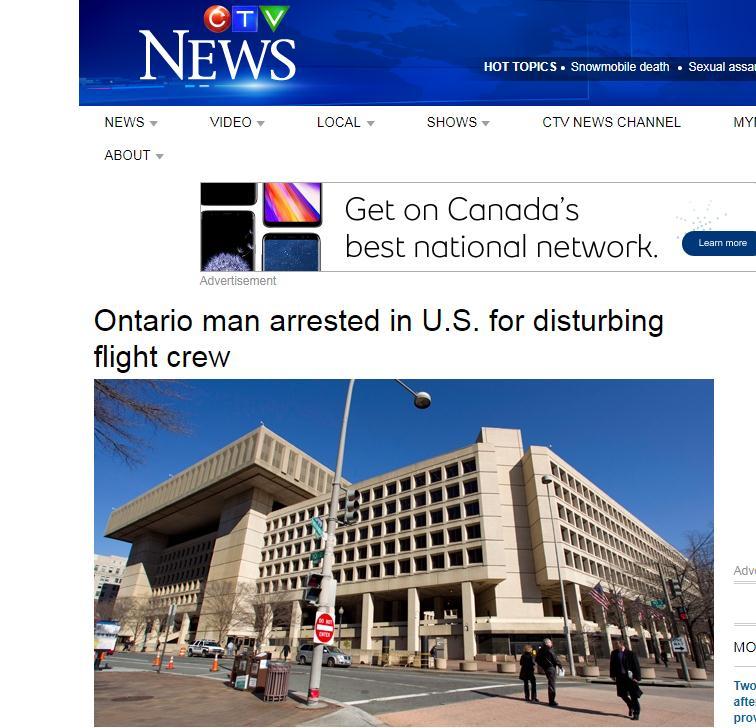 美国逮捕了一名加拿大人