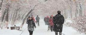 暴雪预警:长江中下游多省有大雪
