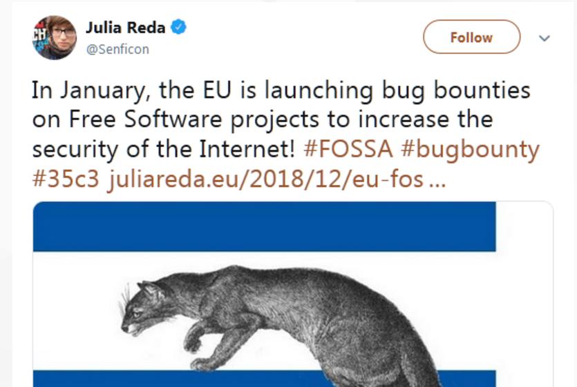 """欧盟明年将在免费开源软件项目中推行""""漏洞赏金"""""""