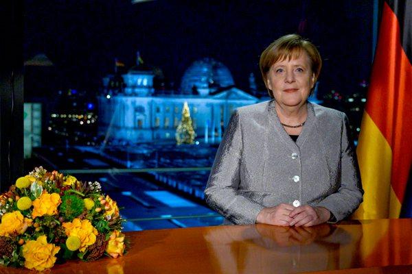 德国总理默克尔发表新年讲话