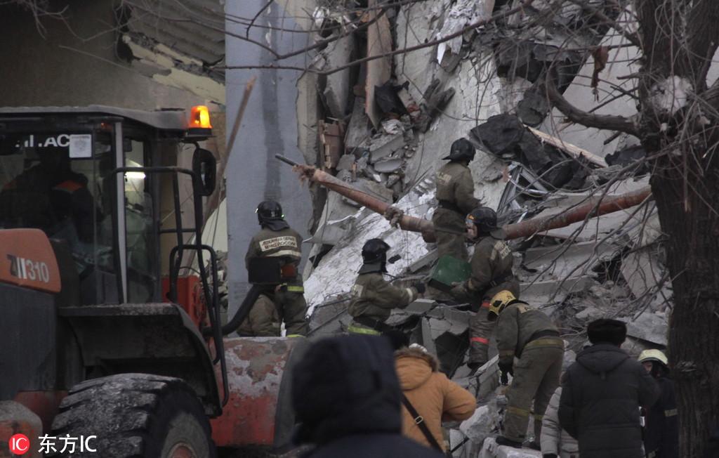 俄居民楼燃气爆炸现场发现第5具遇难者遗体