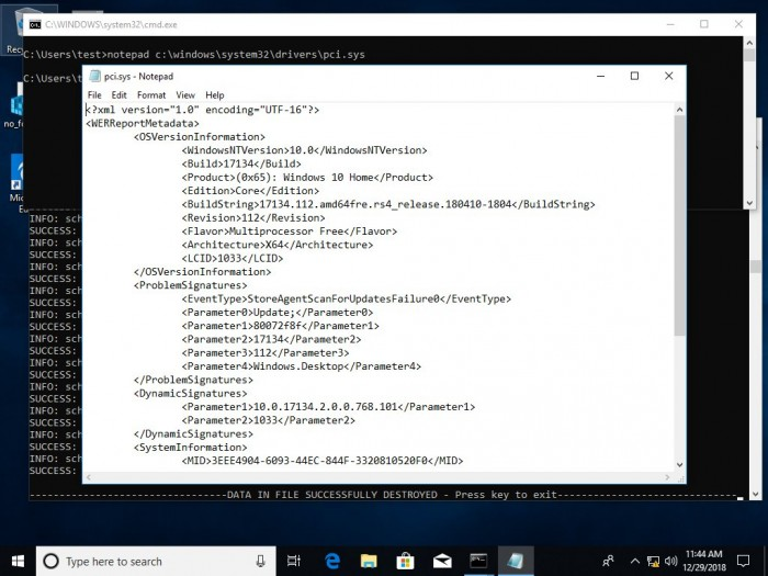 新的Windows 10 bug可导致任意文件被覆写