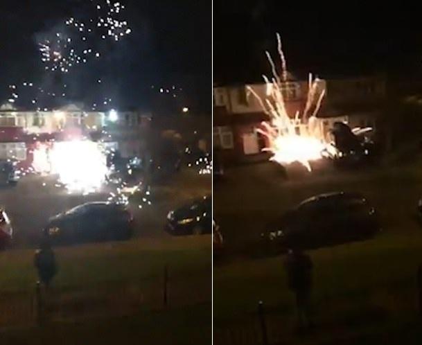 伦敦郊外新年烟火惊扰住宅区 燃放者遭网友抨击