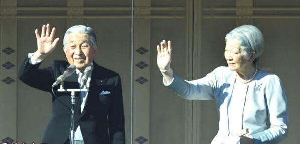 日本明仁天皇接受平成时代最后一次朝贺