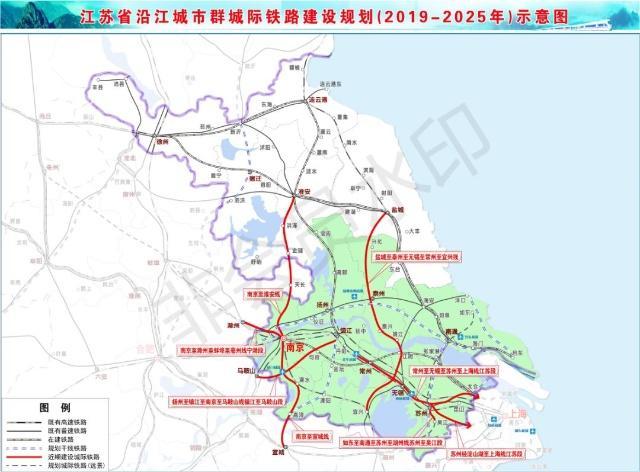 江苏将再建980公里城际铁路 宁淮铁路提上日程