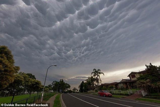 """悉尼上空现奇怪""""乳房""""云 或预示雷暴即将到来"""